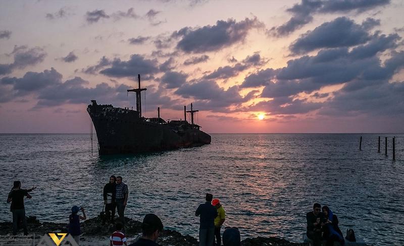 بازدید از کشتی یونانی در کیش